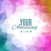 Abstract color triangle background template