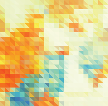 abstract color triangle pattern background