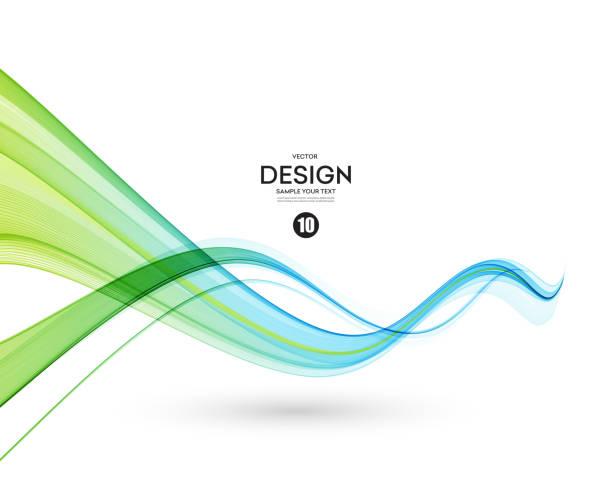 ilustrações, clipart, desenhos animados e ícones de elemento de design de onda de cor abstrata - escorrer