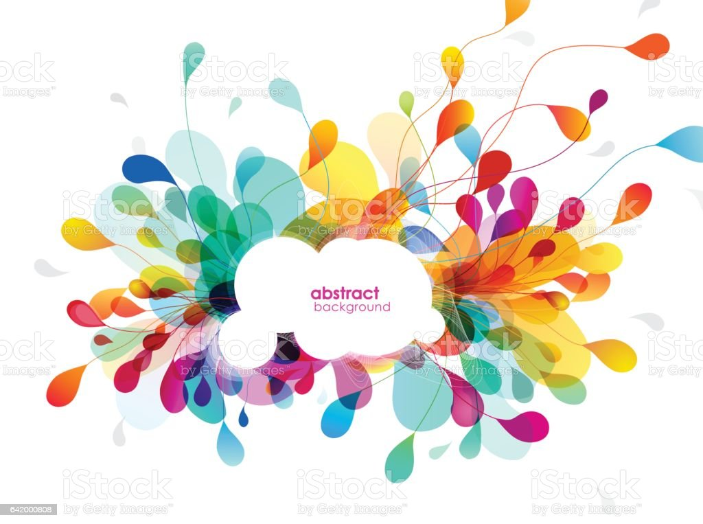 Abstract colored background illustration vector art illustration