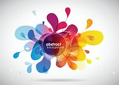 Abstract colored background illustration