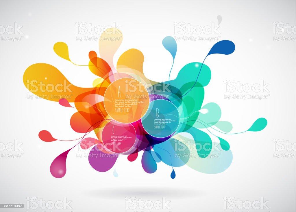 Abstrakte Farbige Hintergrund Mit Blätter Und Legen Sie Für Ihre 3