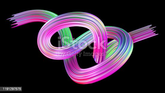 856252302 istock photo Abstract colored fluid flow background. Holographic 3D vector illustration for banner or poster design. 1191297575