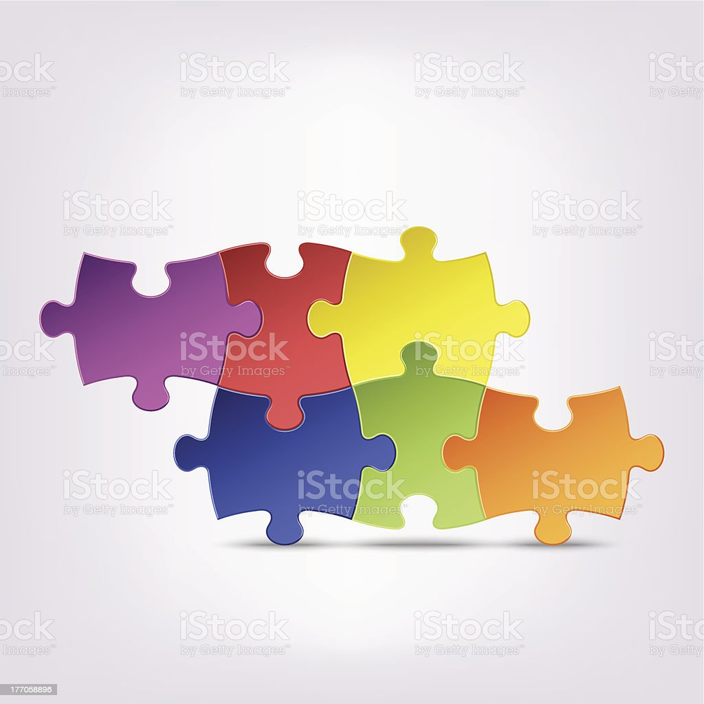 Abstract colored group puzzle background royalty-free stock vector art