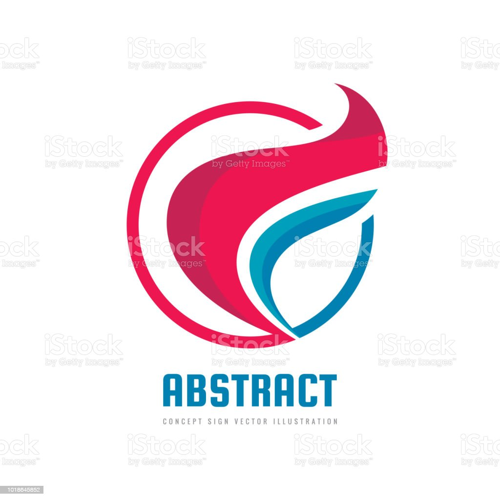 Abstract colored leaves concept business sign template vector abstract colored leaves concept business sign template vector illustration positive geometric sign in optimism flashek Image collections