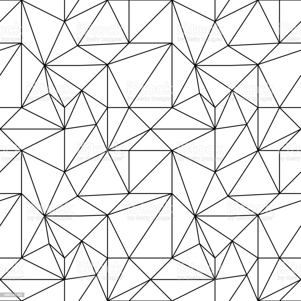 Abstract colored seamless pattern. Black and white polygonal wallpaper - arte vettoriale royalty-free di Astratto