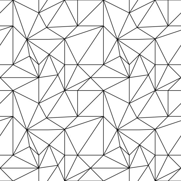 Bекторная иллюстрация Abstract colored seamless pattern. Black and white polygonal wallpaper