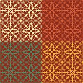 Abstract colored seamless pattern in retro style collection of vector illustration
