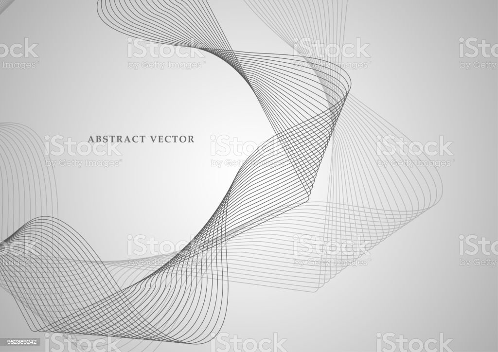 Line The Art Element : Abstract colored wave element for design stylized line art
