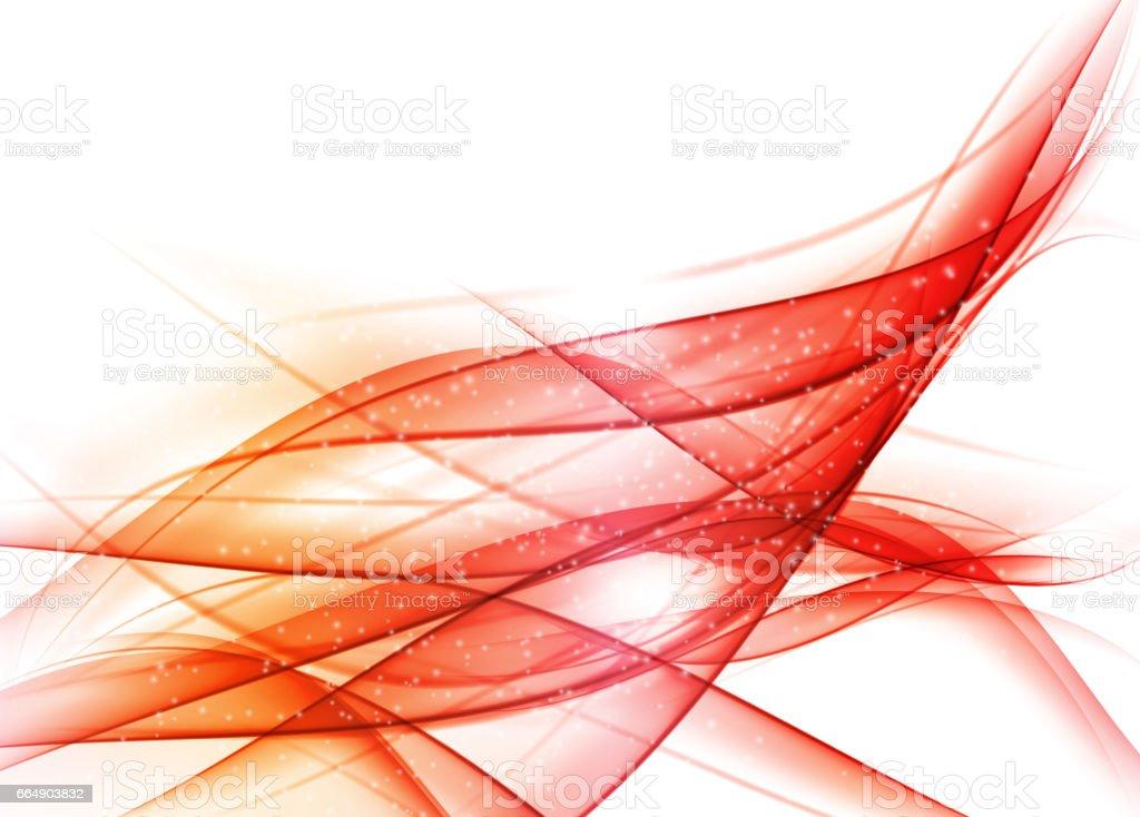 Abstract Colored Wave on  Background. Vector Illustratio abstract colored wave on background vector illustratio - immagini vettoriali stock e altre immagini di accendere (col fuoco) royalty-free