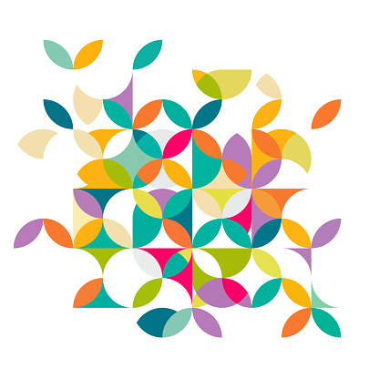 Abstract colorful and creative geometric with a variety of geometric.