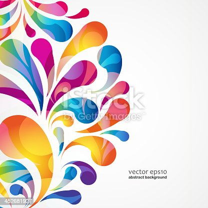 istock Abstract colorful arc-drop background. Vector. 452681927