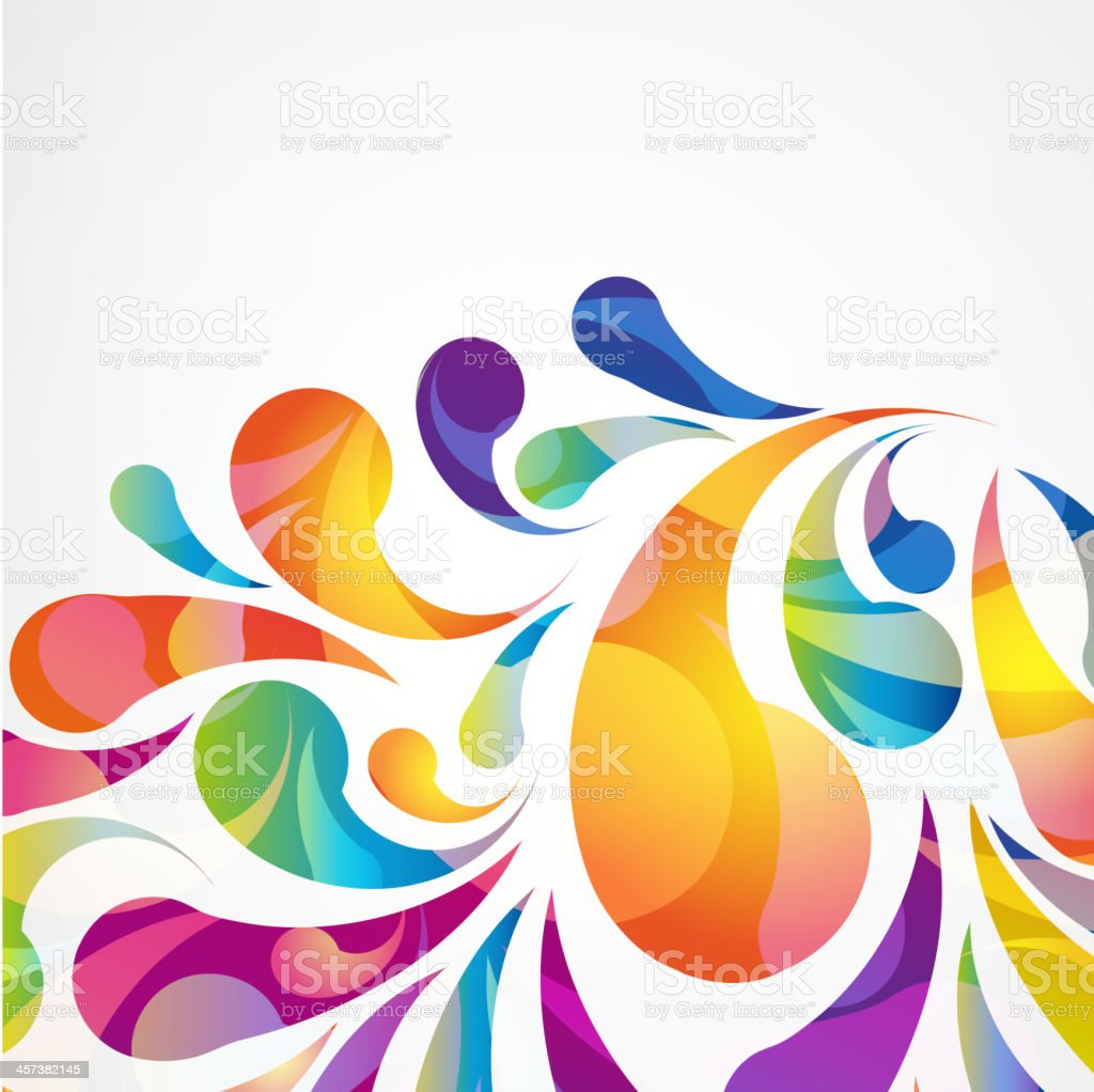 Abstract colorful arc-drop background vector vector art illustration