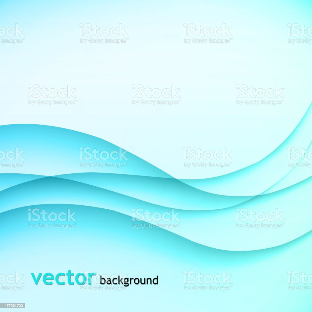Abstract colorful background blue smoke wave vector art illustration
