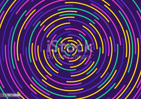 Abstract colorful background. circle shape line design. vector Illustration.