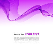 Abstract colorful background violet smoke wave