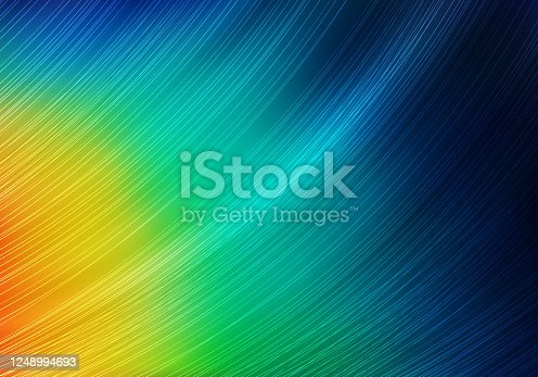 istock Abstract Colorful Background with Lines and Gradient. Bright Vector Minimalist Texture. Feather of ExoticTropical Bird. 1248994693