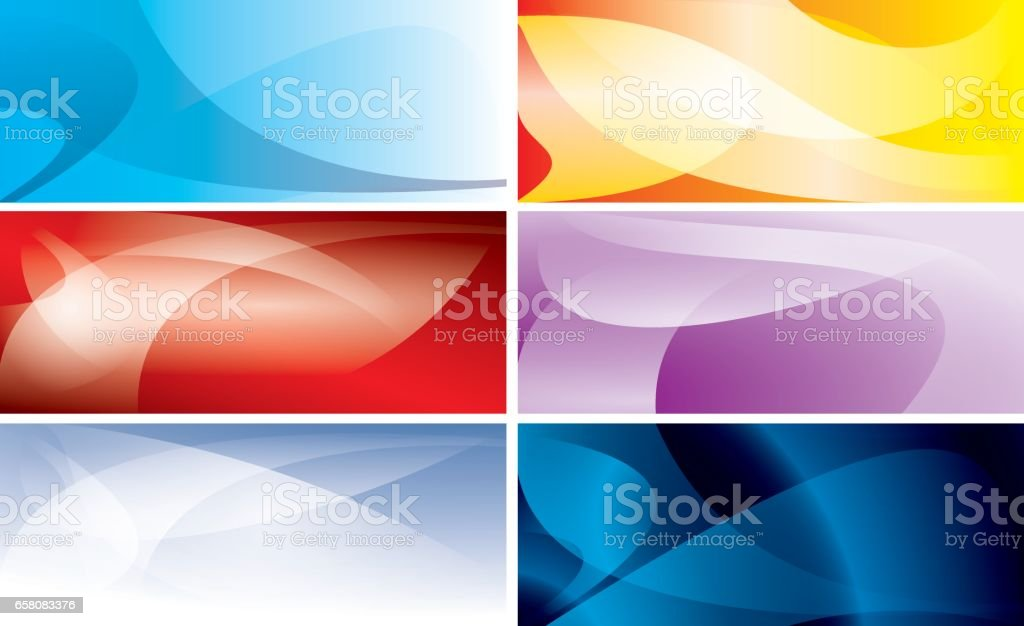 abstract colorful backgrounds with wavy lines - vector set royalty-free abstract colorful backgrounds with wavy lines vector set stock vector art & more images of abstract