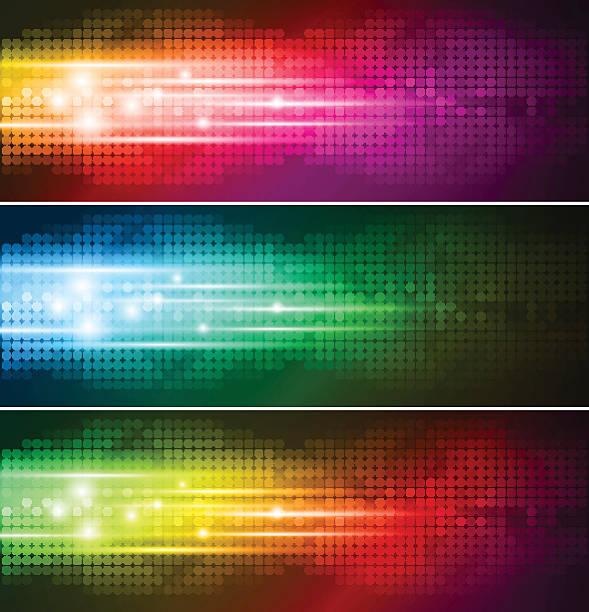 Abstrakte farbenfrohe banner – Vektorgrafik