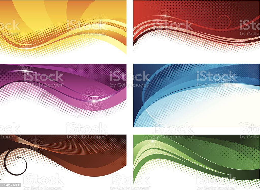 Abstract colorful banners royalty-free stock vector art
