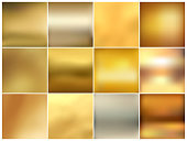 Abstract colorful set blurred vector backgrounds. Element for your website or presentation. Gold color.