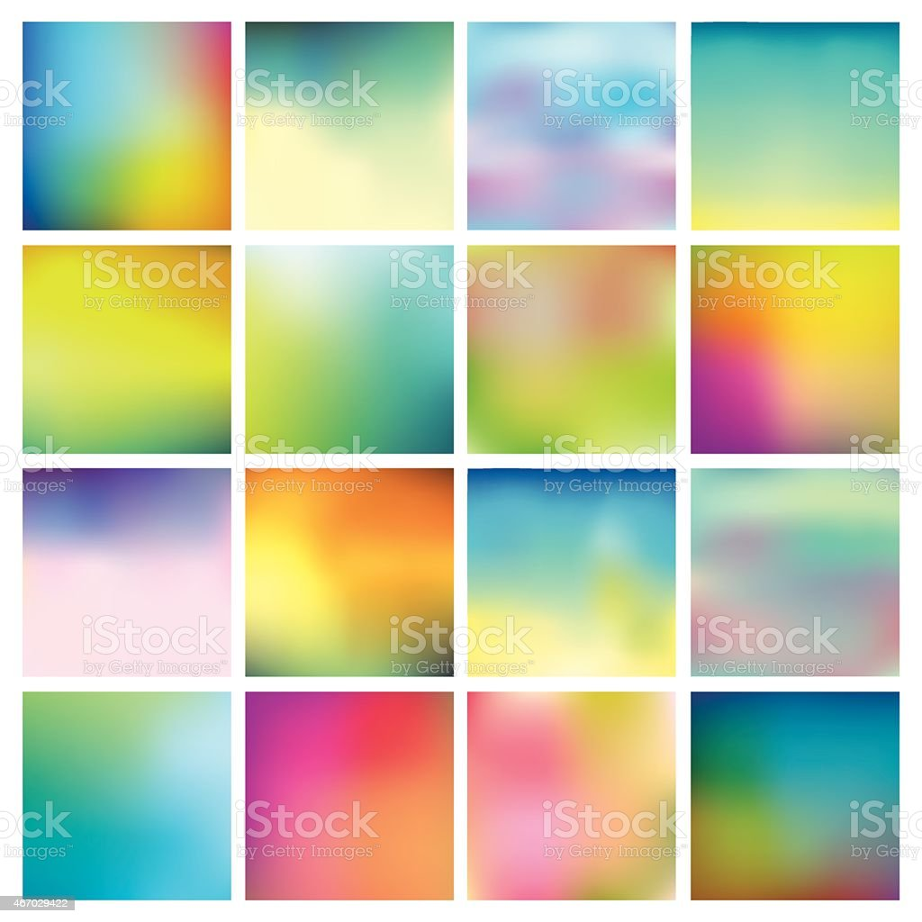 Abstract Colorful Blurred Backgrounds vector art illustration