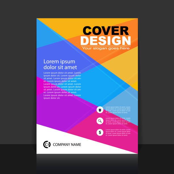 ilustraciones, imágenes clip art, dibujos animados e iconos de stock de folleto de negocios coloridos abstractos, cubierta, plantilla de diseño de folleto - fondos coloridos
