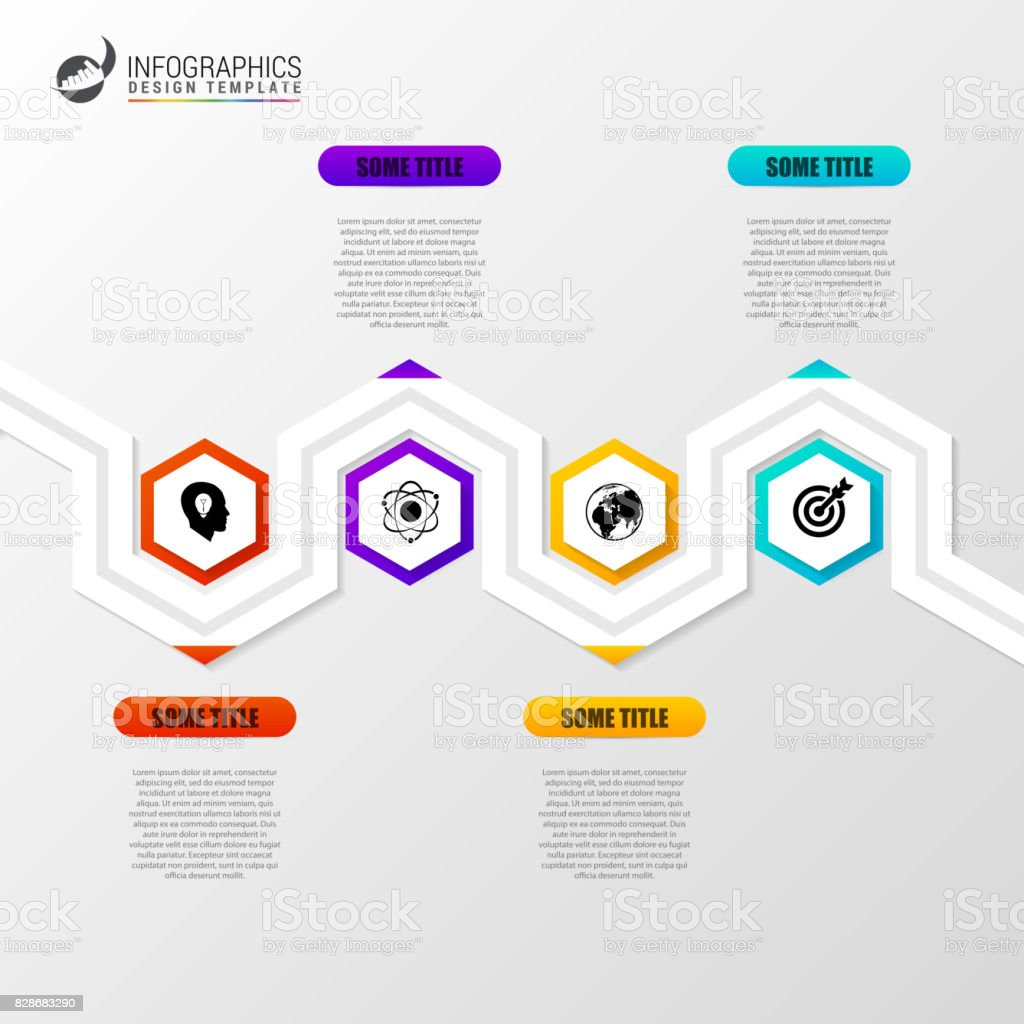 abstract colorful business path timeline infographic template stock