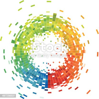 istock abstract colorful check ring technology pattern background 497256531