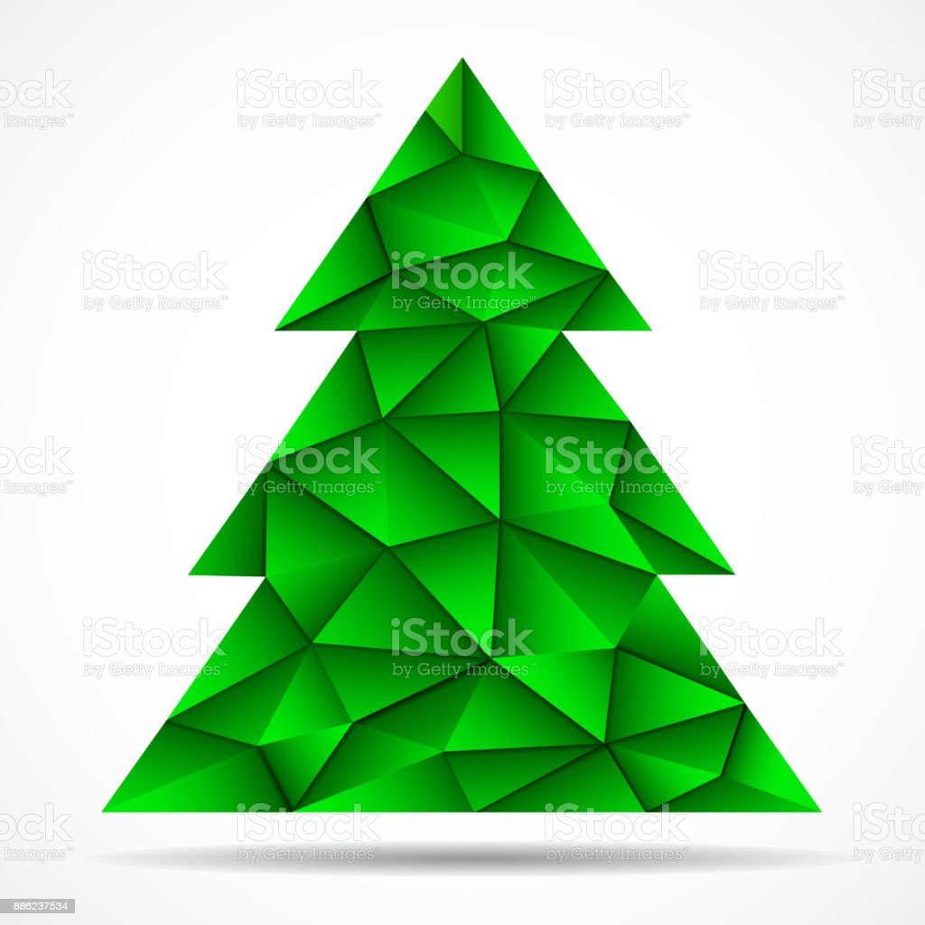 Abstract Colorful Christmas Tree From Triangles Stock Vector Art ...