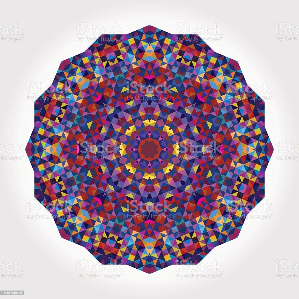 Abstract colorful circle backdrop. Mosaic geometric shapes vector art illustration