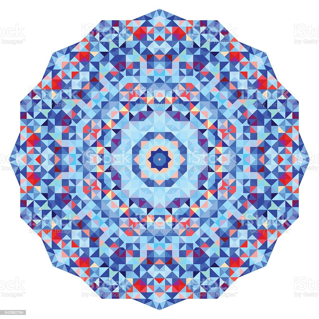 Abstract colorful circle backdrop. vector art illustration
