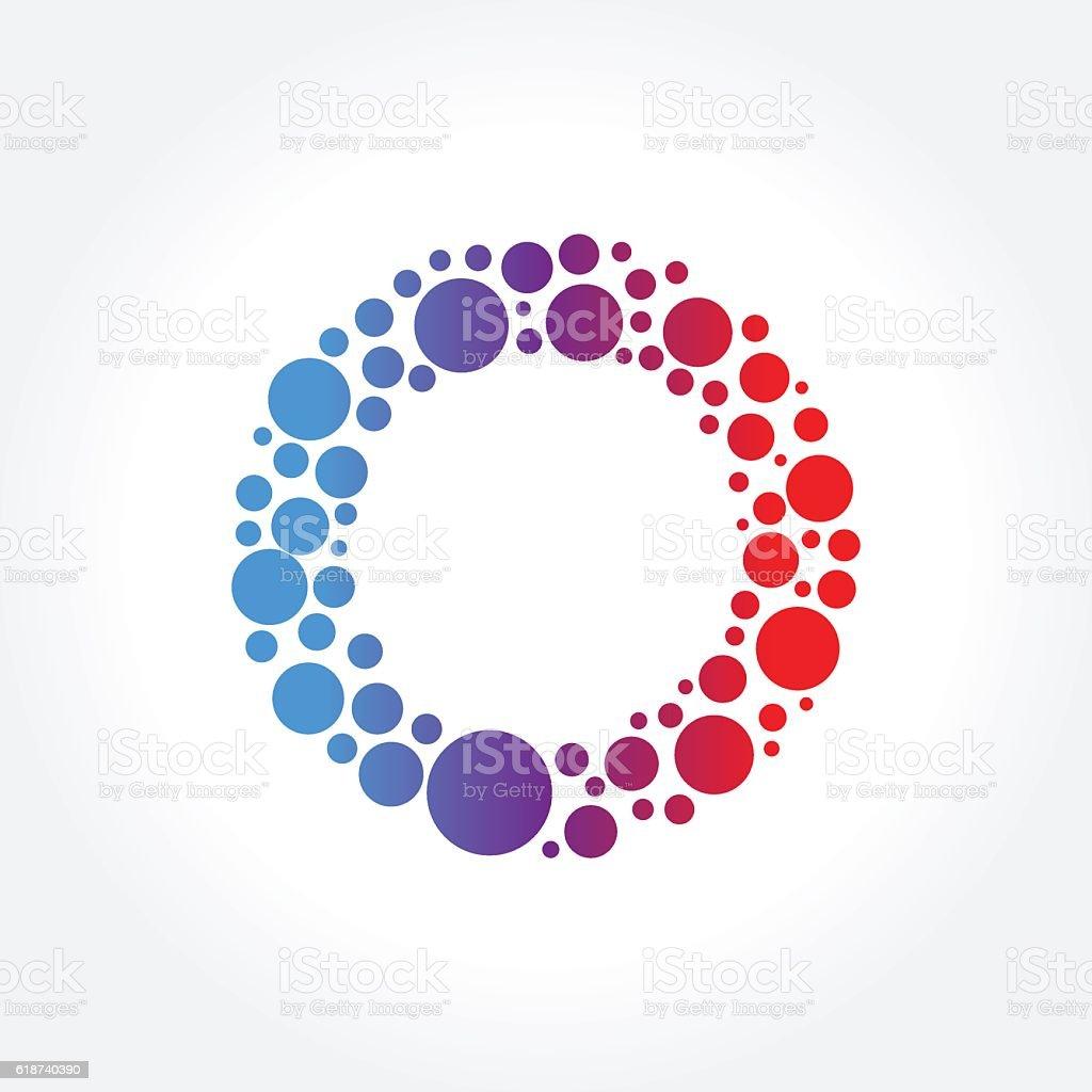 Abstract colorful Circle Dots Symbol, Vector illustration vector art illustration