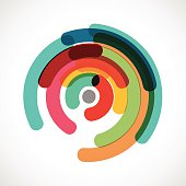 abstract colorful circle pattern for design.(ai eps10 with transparency effect)