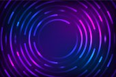 Abstract colorful circle technology background