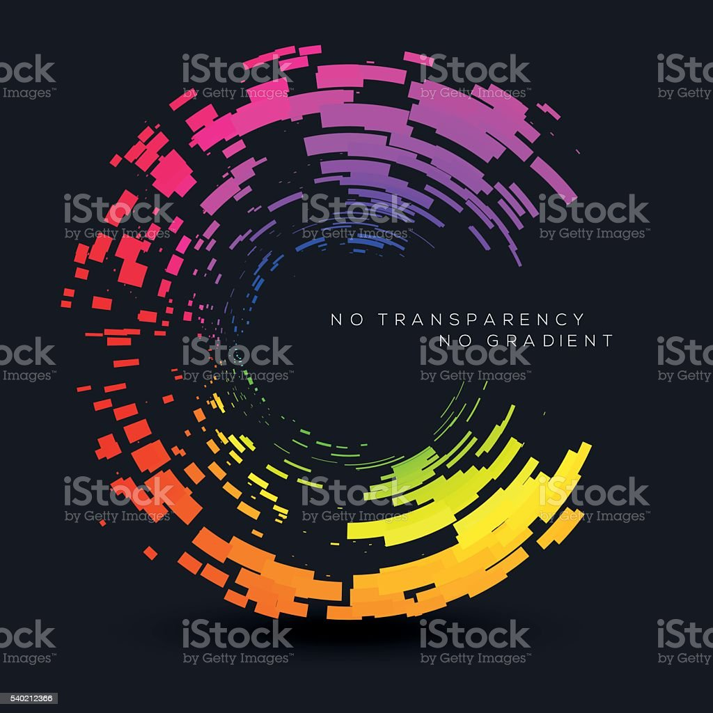 Abstract colorful circles illustration, clip art. Design element. vector art illustration