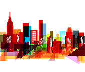 abstract colorful city pattern