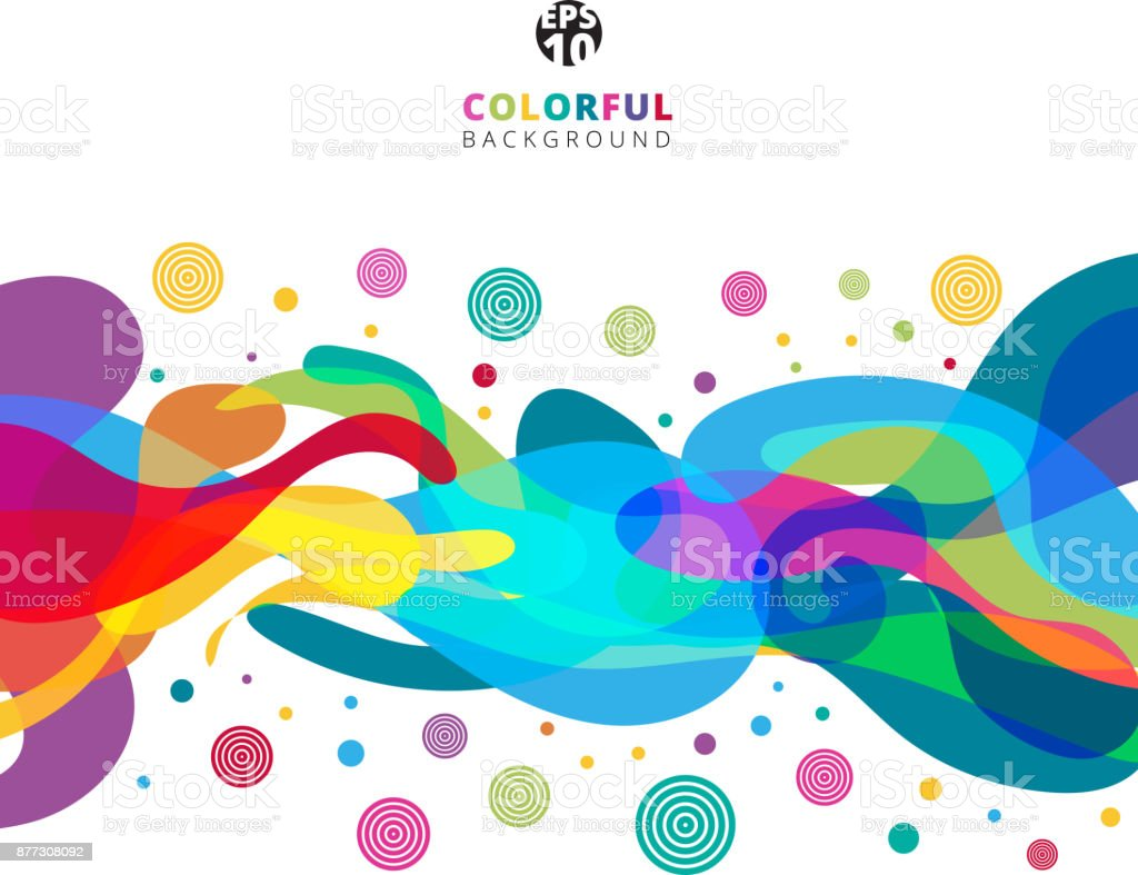 Abstract colorful color splash on white background with copy space. vector art illustration