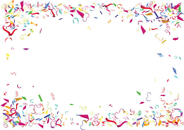 abstract colorful confetti background. isolated on the white background. - purim stock illustrations, clip art, cartoons, & icons