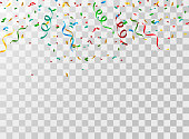 Abstract colorful confetti background. vector illustration.