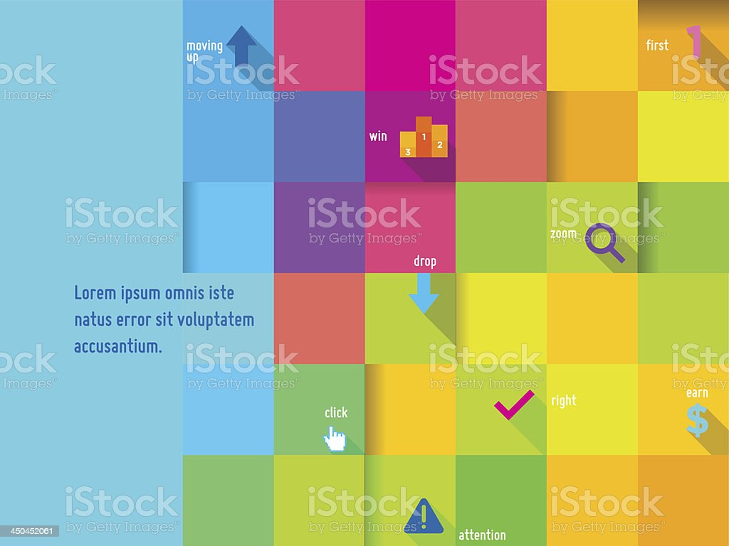 Abstract Colorful Cube Design Template
