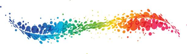 Abstract colorful curve on white vector art illustration