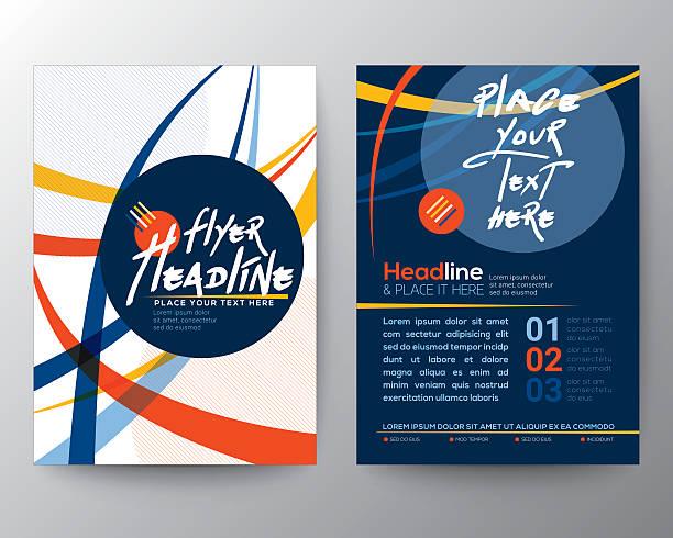 abstract colorful curved line shape poster brochure flyer design - 現代 風格 幅插畫檔、美工圖案、卡通及圖標