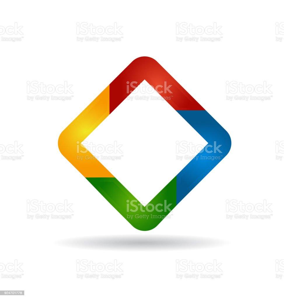 Abstract colorful diamond shape symbol identity business card stock abstract colorful diamond shape symbol identity business card royalty free abstract colorful diamond shape symbol colourmoves