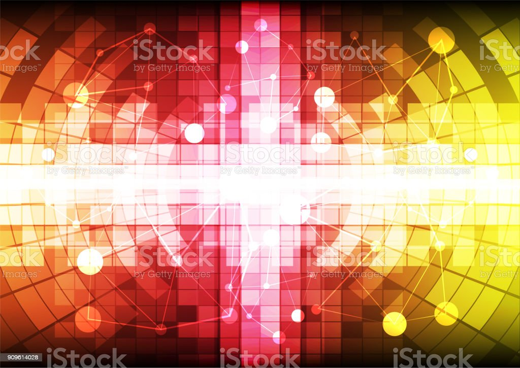 Abstract Colorful Digital Network Background,technology and computer concept design,vector illustration. vector art illustration