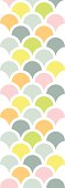 Abstract colorful fishscale vertical seamless pattern background