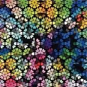 abstract colorful floral pattern background for design
