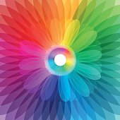 Abstract colorful flower background illustration