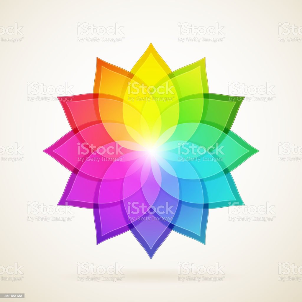 Abstract colorful flower. royalty-free stock vector art