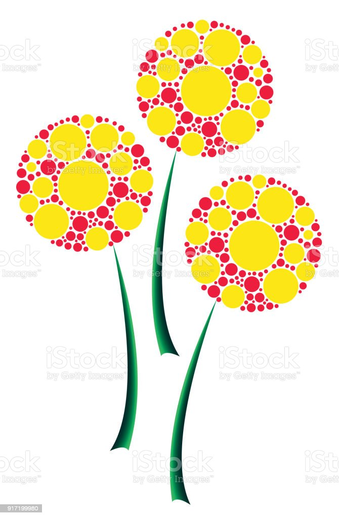 Abstract Colorful Flowers A Symbol Of Purity Peace Love And